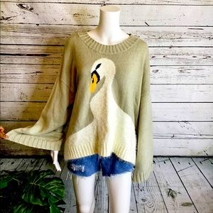 NWT Wildfox White Label Duck Sweater